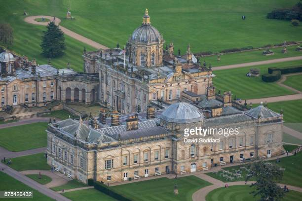 An aerial view of Castle Howard on on October 15 2017 in York England