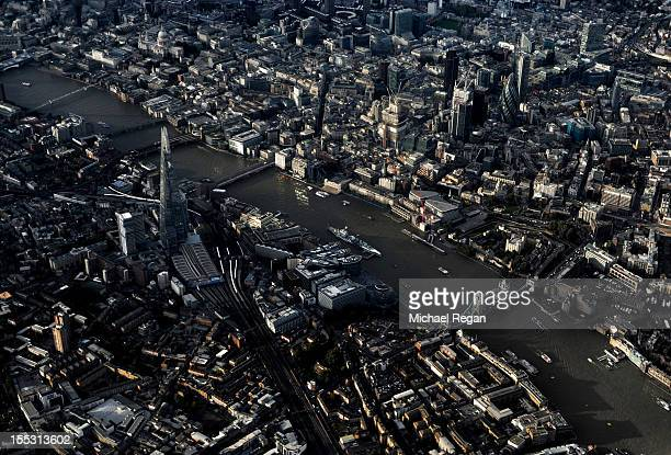 An aerial view of central London on October 18 2012