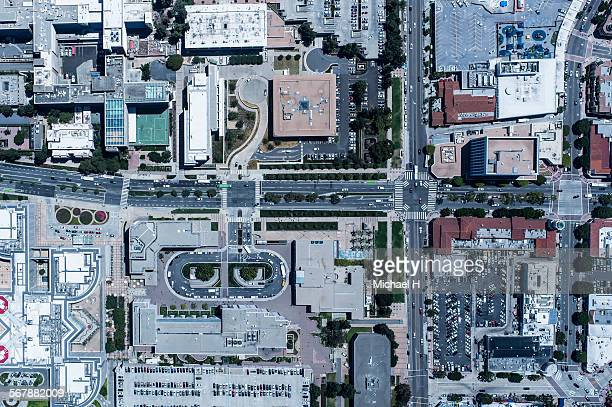 An aerial view of cityscape, LA