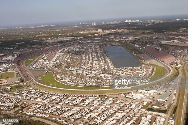 An aerial view of Daytona International Speedway