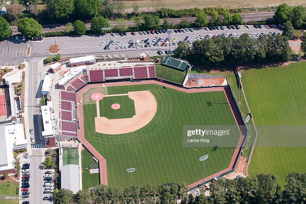 An aerial view of Doak Field on the North Carolina State University campus on April 21, 2013 in Raleigh, North Carolina.