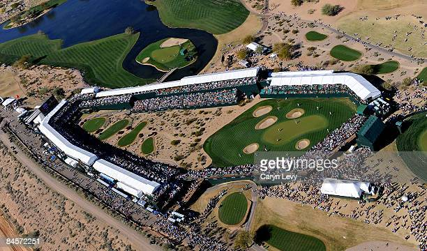 An aerial view of during the third round of the FBR Phoenix Open held at TPC Scottsdale on January 31 2009 in Scottsdale Arizona