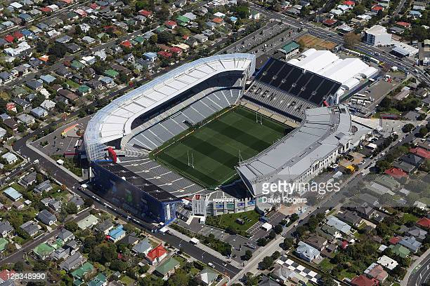 An aerial view of Eden Park on October 7, 2011 in Auckland, New Zealand.