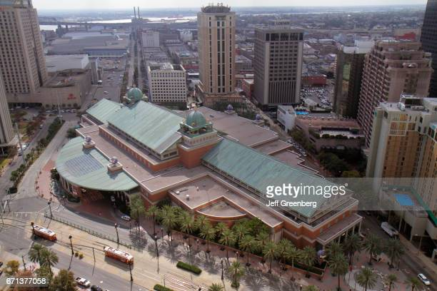 An aerial view of Harrah's New Orleans Hotel and Casino.