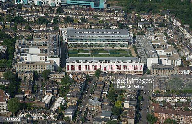 An aerial view of Highbury the former home of Arsenal Football Club on June 14 2012 in London England