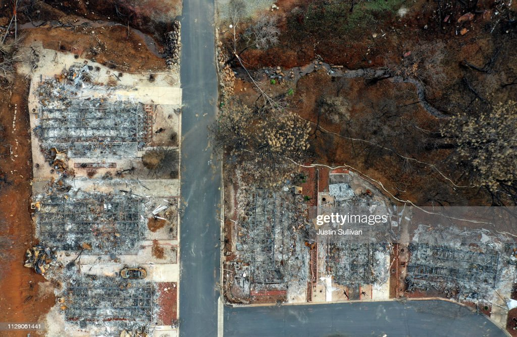 Town Of Paradise Wiped Out By The Camp Wildfire Continues Long Struggle To Rebuild : Foto jornalística