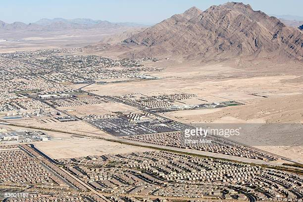 An aerial view of homes on November 6, 2008 in Henderson, Nevada. As bad loans drove homeowners originally into foreclosure earlier this year, rising...