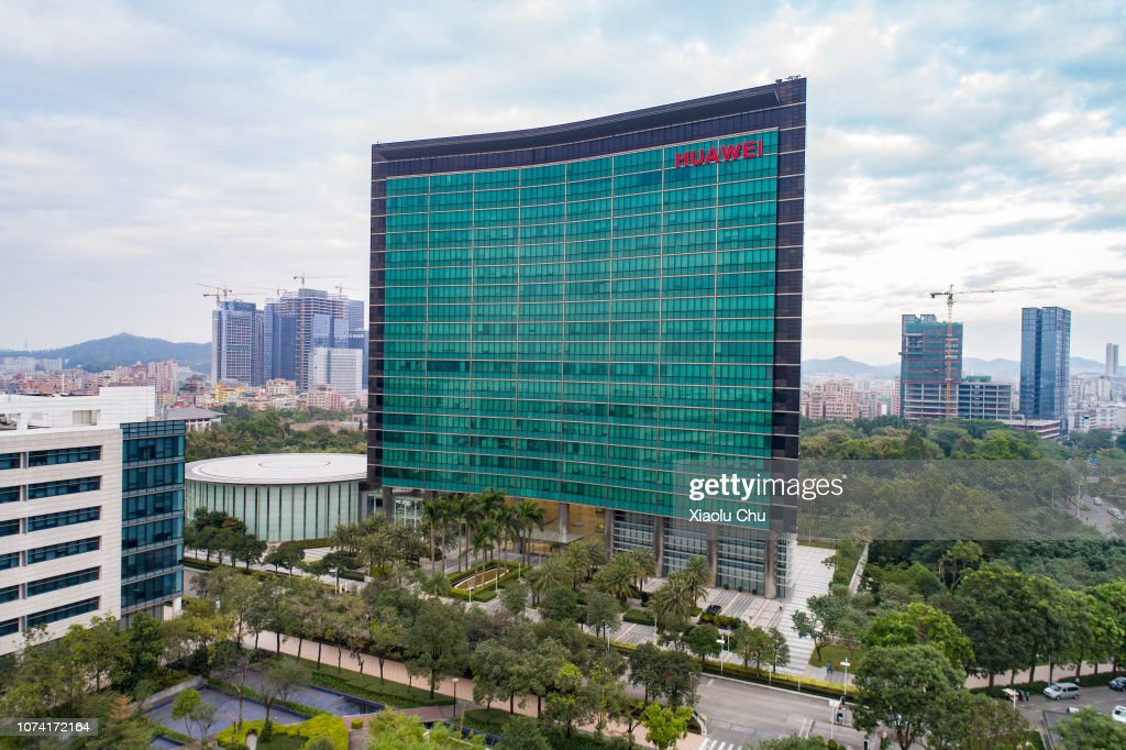 Aerial View Of Huawei Global Headquarters In Shenzhen : News Photo