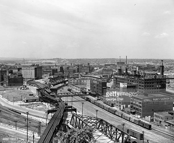 An aerial view of Industrial and Packing District in Kansas City Missouri