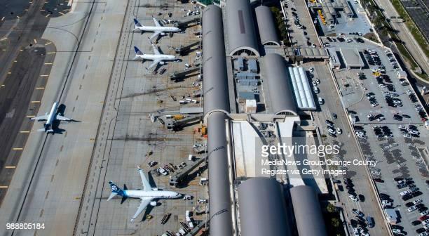 An aerial view of John Wayne Airport in Santa Ana on Thursday June 28 2018