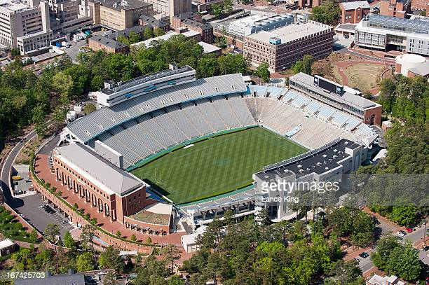 An aerial view of Kenan Stadium on campus of the University of North Carolina on April 21 2013 in Chapel Hill North Carolina