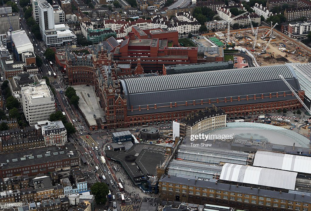 An Aerial view of Kings Cross and St Pancras Stations on July 26, 2011 in London, England. London will host the 2012 Olympic Games.