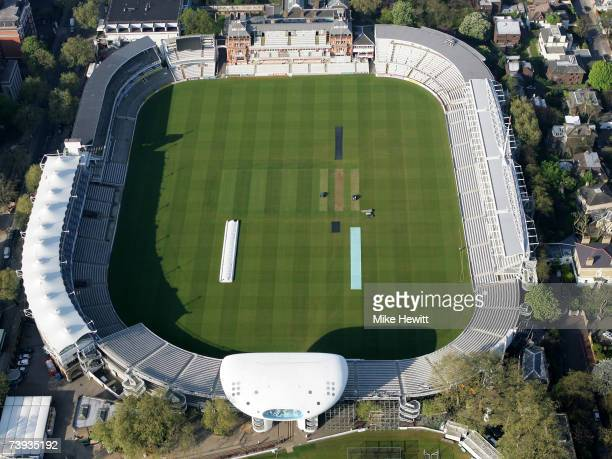 An aerial view of Lord's Cricket Ground on April 20 2007 at St John's Wood in London England