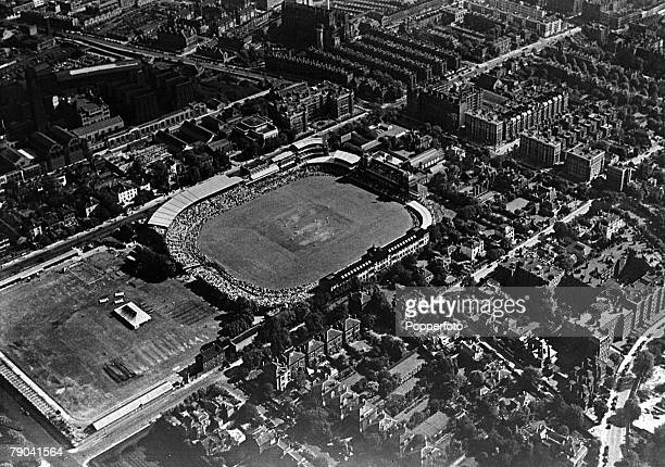 1946 An aerial view of Lords Cricket Ground