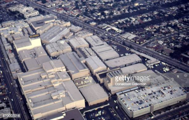 An aerial view of MGM Studios in October 1982 in Los Angeles California