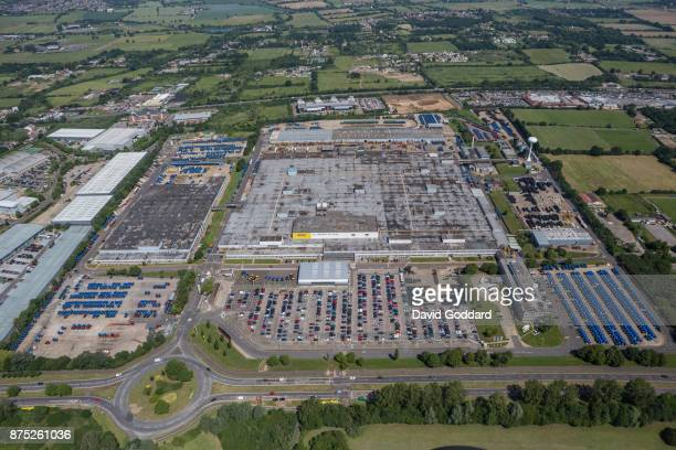 An aerial view of New Holland tractor factory in Basildon on June 14 2017 in Basildon England