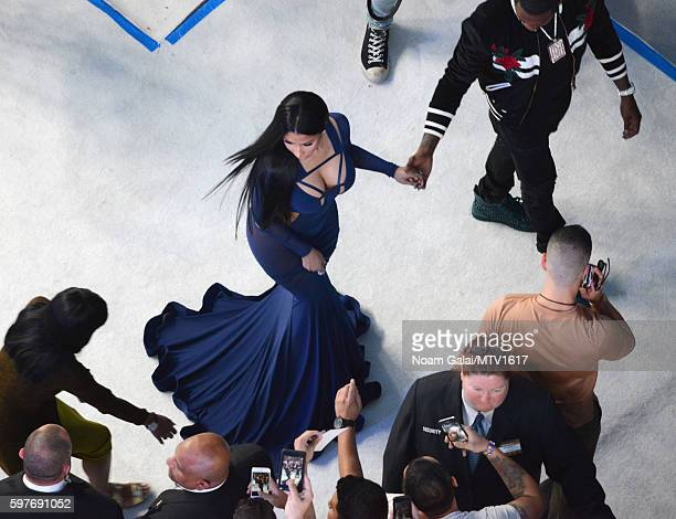 An aerial view of Nicki Minaj and Meek Mill arriving to the 2016 MTV Video Music Awards at Madison Square Garden on August 28 2016 in New York City