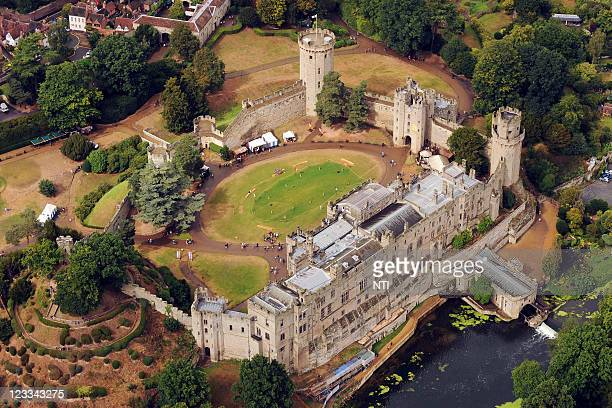 An aerial view of of Warwick Castle, August 18, 2011 in Warwick, England.