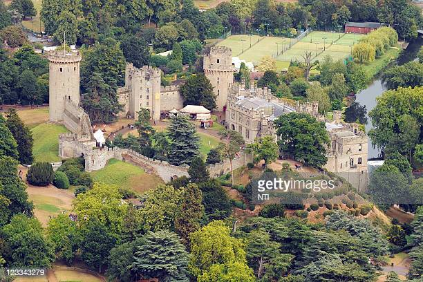 An aerial view of of Warwick Castle August 18 2011 in Warwick England