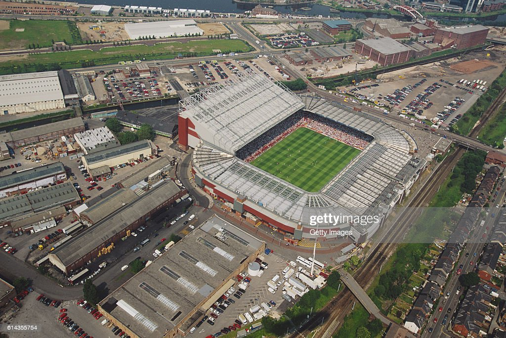 Old Trafford during Euro 96' match between Russia and Germany : News Photo