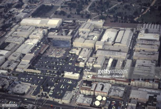 An aerial view of Paramount Studios in October 1982 in Los Angeles California