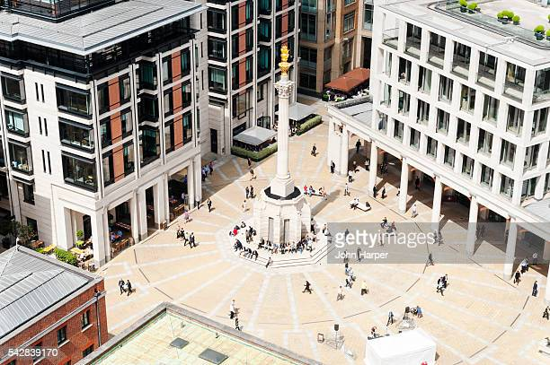 An aerial view of Paternoster Square in London