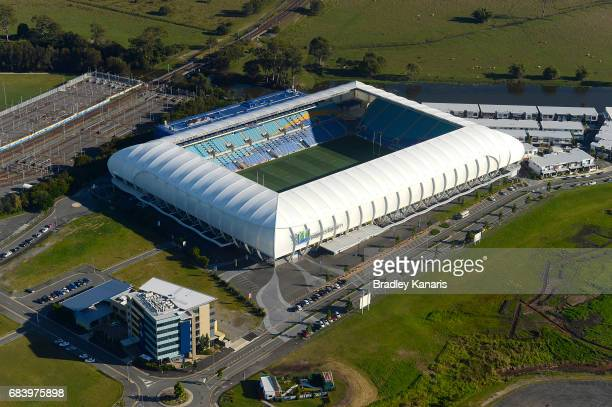An aerial view of Robina Stadium can be seen the venue will play host to the Rugby 7's at the 2018 Commonwealth Games on May 17 2017 in Gold Coast...