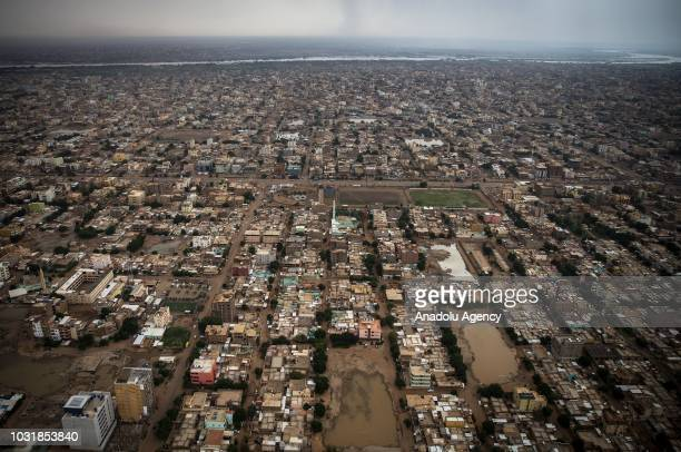 An aerial view of Sennar State is seen during Agriculture and Forestry Minister of Turkey Bekir Pakdemirli's visit in Sennar, Sudan on September 12,...