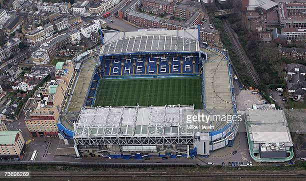 An aerial view of Stamford Bridge home of Chelsea football club March 25 2007 in London England