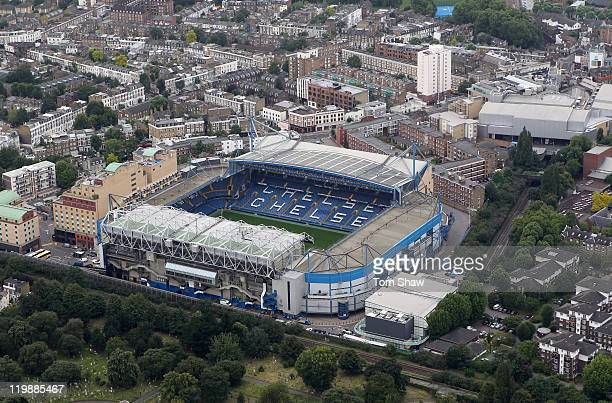 An aerial view of Stamford Bridge home of Chelsea Football Club on July 26, 2011 in London, England.