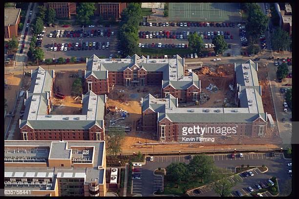 An aerial view of student dormitories at Georgia Tech University in Atlanta Georgia The dorms will also house Olympic athletes during the 1996 Summer...
