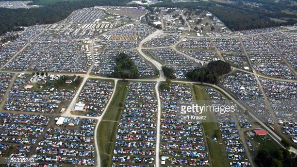 An aerial view of the 2019 Bonnaroo Arts And Music Festival on June 15, 2019 in Manchester, Tennessee.