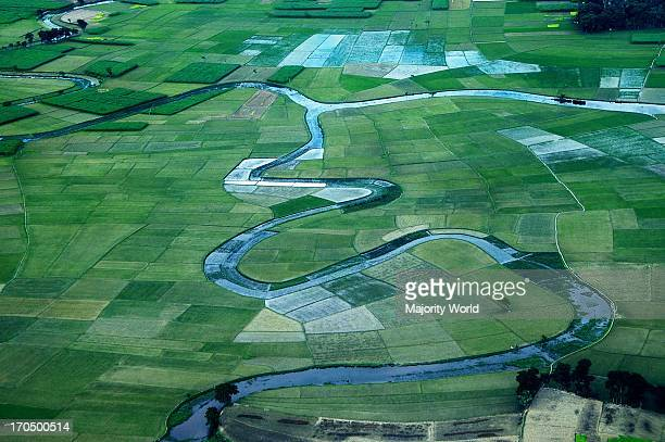 An aerial view of the agricultural fields in Barisal Bangladesh August 12 2007