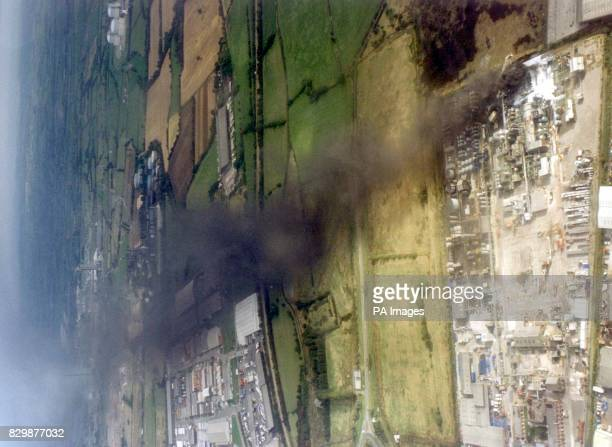 An aerial view of the Albright and Wilson chemical plant Avonmouth following an explosion this afternoon Five people were hurt in the incident PA SEE...