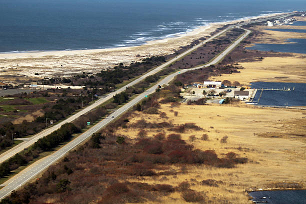 An Aerial View Of The Area Near Gilgo Beach And Ocean Parkway On Long Island Where