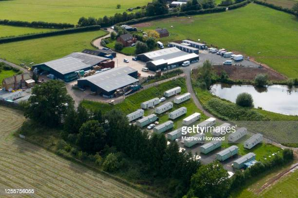 An aerial view of the AS Green and Co farm on July 12 2020 in Mathon United Kingdom AS Green and Co based in Mathon near Malvern has said 73 of its...