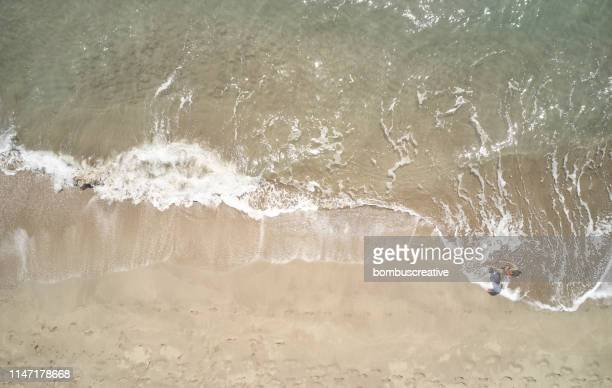 an aerial view of the beach in summer - south australia stock pictures, royalty-free photos & images