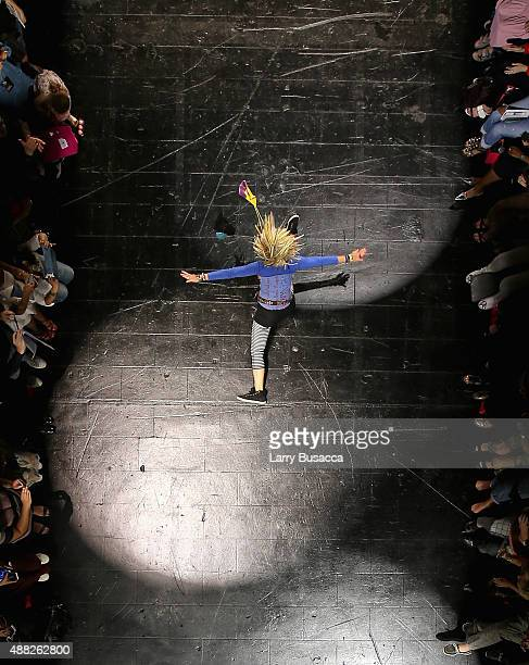 An aerial view of the Betsey Johnson fashion show during Spring 2016 New York Fashion Week The Shows on September 11 2015 in New York City