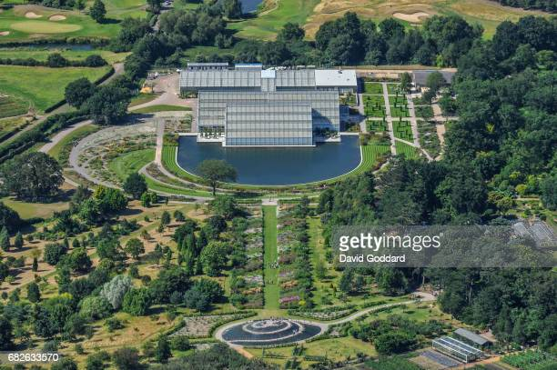 SURREY ENGLAND JULY 30 An aerial view of the botanical Gardens at RHS Wisley Surrey on July 30 2010