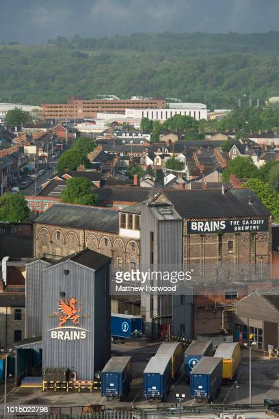 An aerial view of the Brains Brewery site in Cardiff city centre on May 22, 2016 in Cardiff, United Kingdom. The company controls more than 250 pubs.