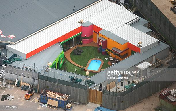 An aerial view of the brand new 2008 set of the reality TV programme Big Brother as it is unveiled at Elstree Studios, May 22, 2008 in Hertfordshire,...
