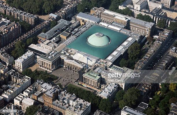 An aerial view of the British Museum on September 21 2008 in London England