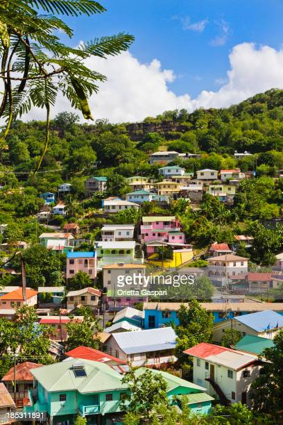 An aerial view of the Canaries in Saint Lucia