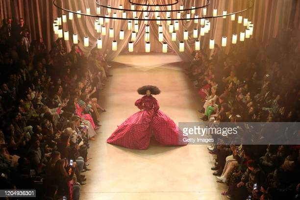 An aerial view of the Christopher John Rogers fashion show during New York Fashion Week February 2020on February 08 2020 in New York City