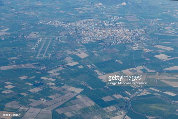 An aerial view of the city of Grosseto - Province of Grosseto, Italy