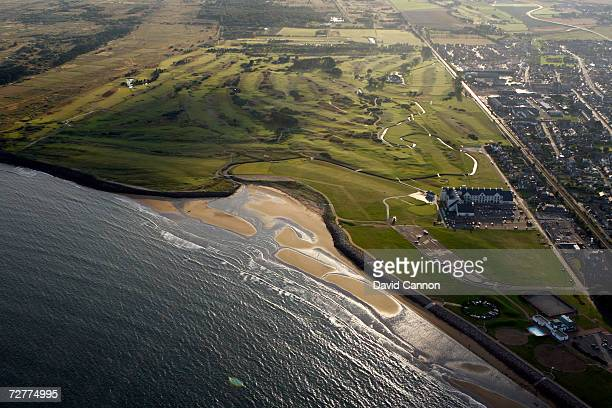An aerial view of the courses at Carnoustie and the Carnoustie Championship Course venue for the 2007 Open Championship on September 8th in...