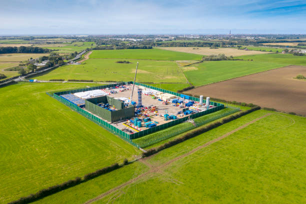 GBR: Aerial Views Of The Cuadrilla Fracking Site