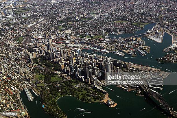 An aerial view of the Darling Harbour and White Bay ship handling facilities in Sydney Harbour 25 April 2005 The federal government said 19 May it...