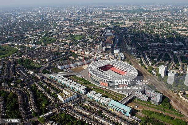 An aerial view of The Emirates Stadium home of Arsenal Football Club on June 14, 2012 in London, England.