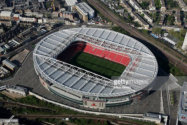 An aerial view of the Emirates Stadium home of Arsenal football club on April 20 2007 in Ashburton Grove Holloway north London England